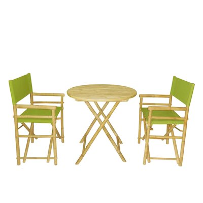 Bamboo 3 Piece Bar Set Color: Green