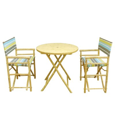 Bamboo 3 Piece Dinning Set