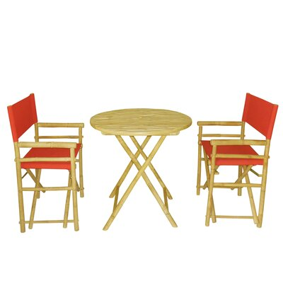 Bamboo 3 Piece Bar Set Color: Red