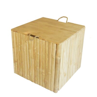 Bamboo Storage Ottoman