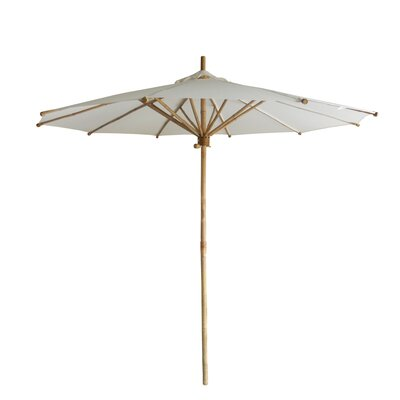 7 Market Umbrella Fabric: White