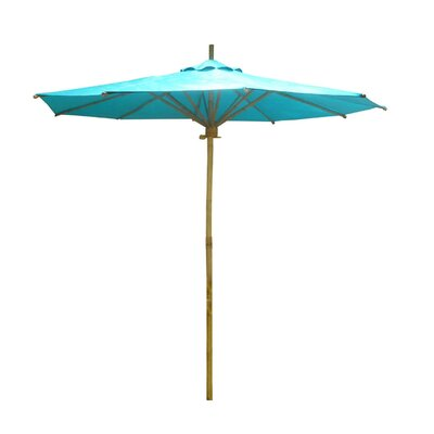 7 Market Umbrella Fabric: Aqua