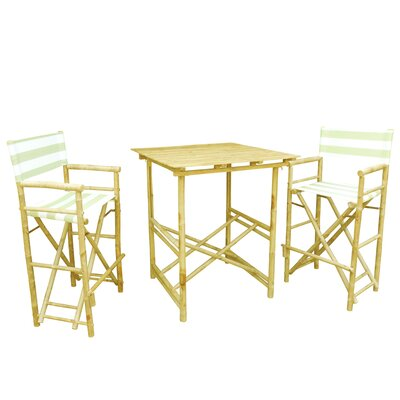 Bamboo 3 Piece Bar Set Color: Celadon and White