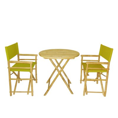 Bamboo 3 Piece Bar Set Color: Olive Green