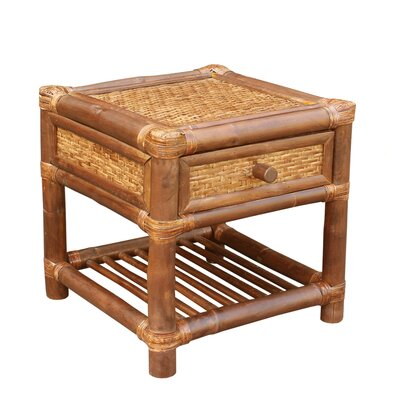 Bamboo Wood  End Table
