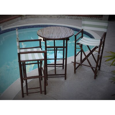 3 Piece Dining Set Fabric: Celadon