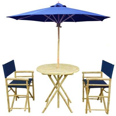 Dining Set Fabric Blue - Product photo
