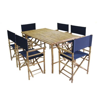 7 Piece Dining Set with Cushion