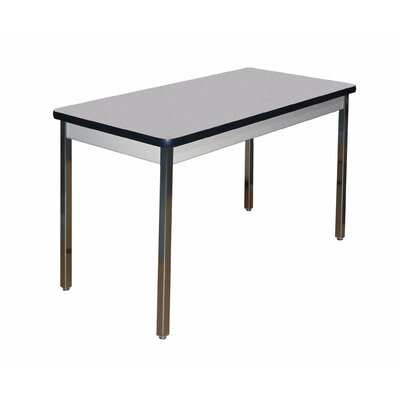 Training Table Tabletop Finish: Grey Nebula, Size: 30 H x 60 W x 24 D