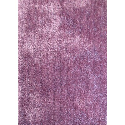 Shaggy Hand Tufted Lavender Area Rug