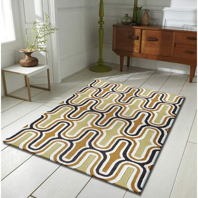 Hayslett Hand-Tufted Yellow Indoor Area Rug Size: Rectangle 76 x 103