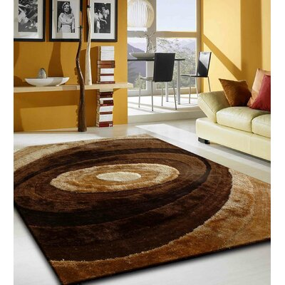 Orme Shaggy Hand-Tufted Brown Area Rug Rug Size: Rectangle 76 x 103