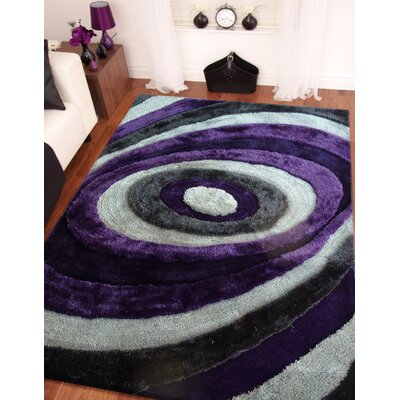 Sheraton Hand-Tufted Gray/Purple Indoor Area Rug