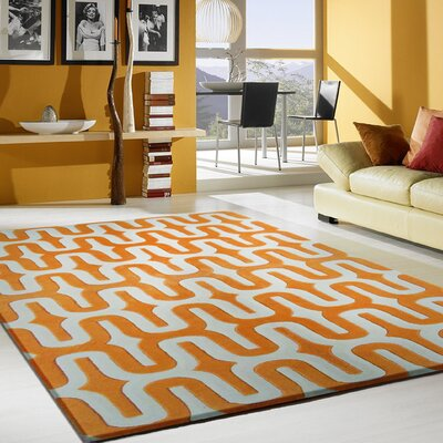 Hazeltine Hand-Tufted Orange Indoor Area Rug Size: Rectangle 5 x 7