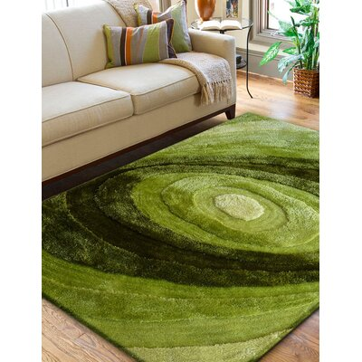 Living Shag Shades of Green Rug Rug Size: 76 x 102