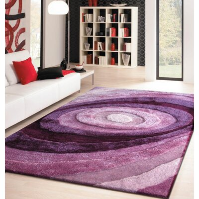 Sherlock Hand-Tufted Lavender Area Rug Rug Size: Rectangle 76 x 103