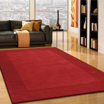 Lakemoor Hand-Tufted Red Area Rug