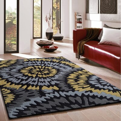 Whiddon Transitional Hand-Tufted Gray/Yellow Area Rug