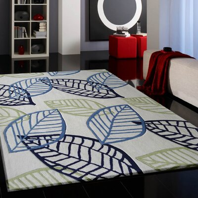 Whipkey Transitional Hand-Tufted Blue/Green Area Rug