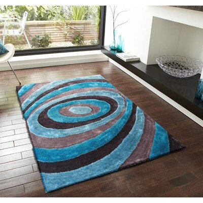 Orme Shaggy Hand-Tufted Gray/Blue Area Rug