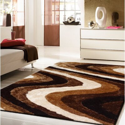 Living Shag Brown Rug Rug Size: 5 x 7