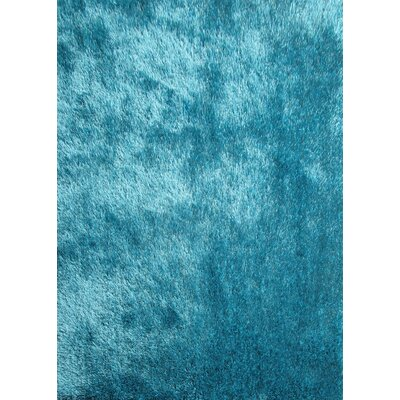 Shaggy Hand Tufted Turquoise Area Rug