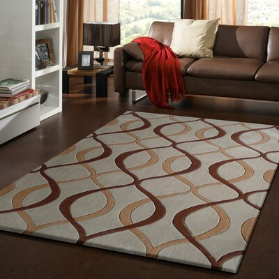 Abels Transitional Hand-Tufted Beige Area Rug