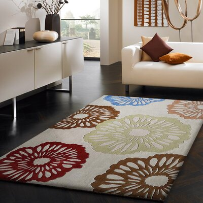 Stabile Transitional Hand-Tufted Beige Area Rug