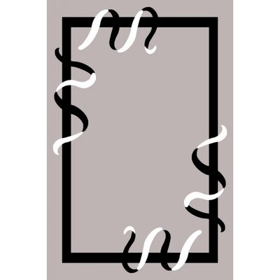 Geo Grey Area Rug Rug Size: 54 x 75