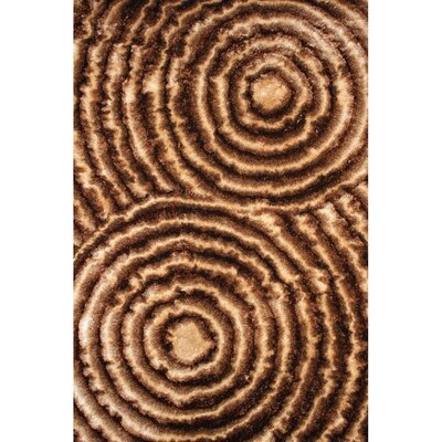 Shaggy 3D Gold/Brown Area Rug Rug Size: 5 x 7