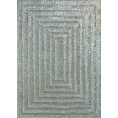 Shaggy 3D White Area Rug Rug Size: 5 x 7