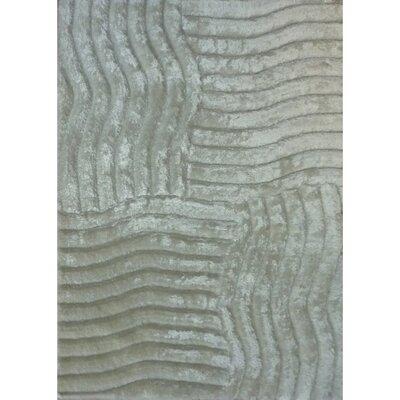 Shaggy 3D Gray Area Rug Rug Size: 5 x 7