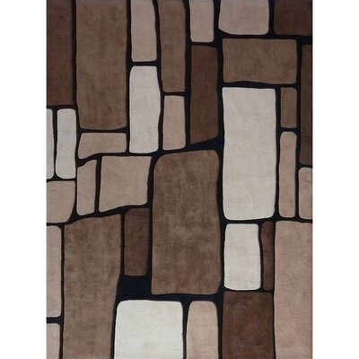 Transition Brown Area Rug Rug Size: 76 x 102