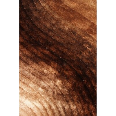 Shaggy 3D Gold/Brown Area Rug Rug Size: 76 x 102