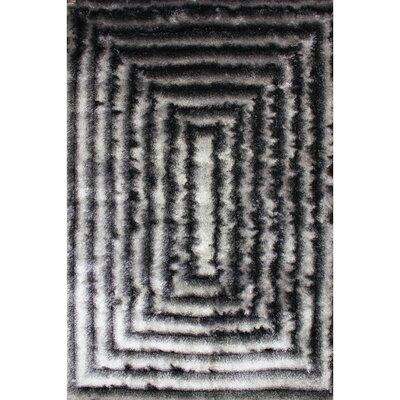 Shaggy 3D Gray Area Rug Rug Size: 76 x 102