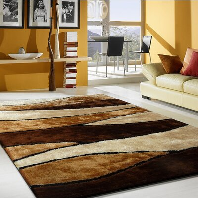 Quintanar Hand-Tufted Brown/Cream Area Rug