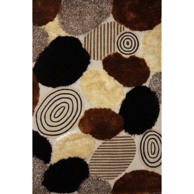 Shaggy Viscose Design Area Rug Rug Size: 76 x 102