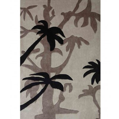 Transition Beige Area Rug Rug Size: 5 x 7