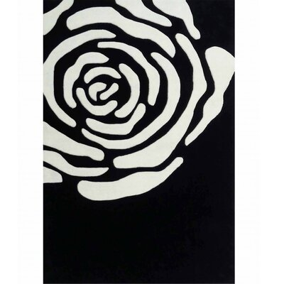 Transition Black/White Area Rug Rug Size: 76 x 102
