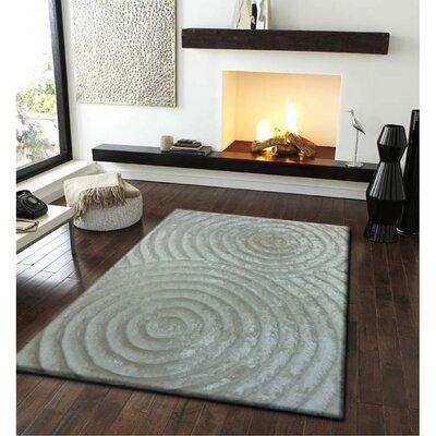 Shaggy 3D Grey Area Rug Rug Size: 76 x 102
