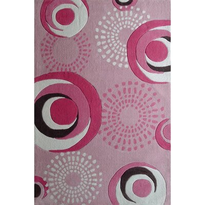 Zoomania Dancing Circles Pink Childrens Area Rug