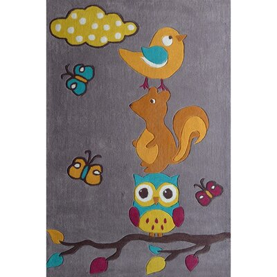 Zoomania Friends Grey Childrens Area Rug