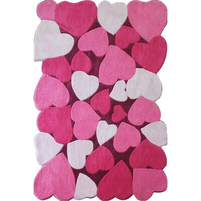 Zoomania Love Pink Childrens Area Rug