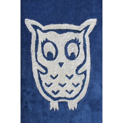 Zoomania Owl Blue Childrens Area Rug