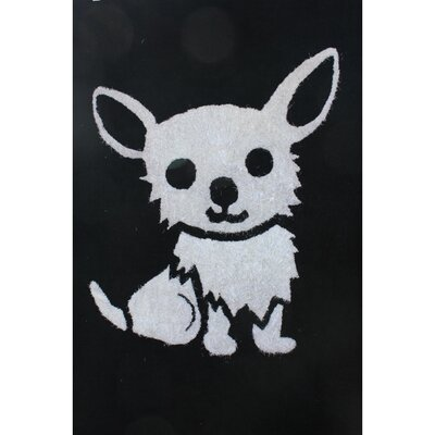 Zoomania Dog Black/White Childrens Area Rug