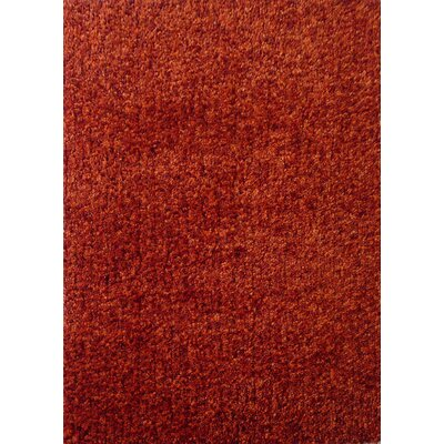 Harmony 2 Toned Orange Shag Area Rug Rug Size: 8 x 10