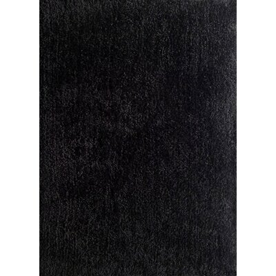 Harmony Black Shag Area Rug Rug Size: Rectangle 5 x 7