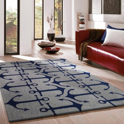 Vivid Blue Anchors Indoor/Outdoor Area Rug Rug Size: 5 x 7