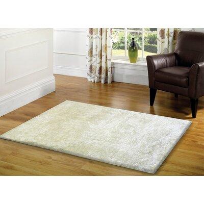Amore Shag White Area Rug Rug Size: 5 x 7