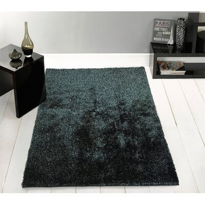 Amore Hand-Tufted Black/Silver Area Rug